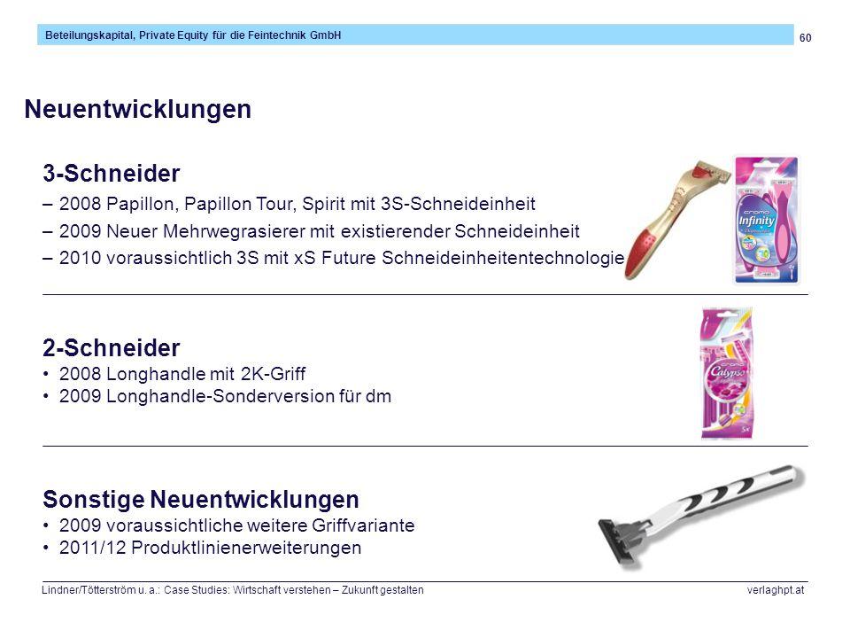 Neuentwicklungen 3-Schneider 2-Schneider Sonstige Neuentwicklungen