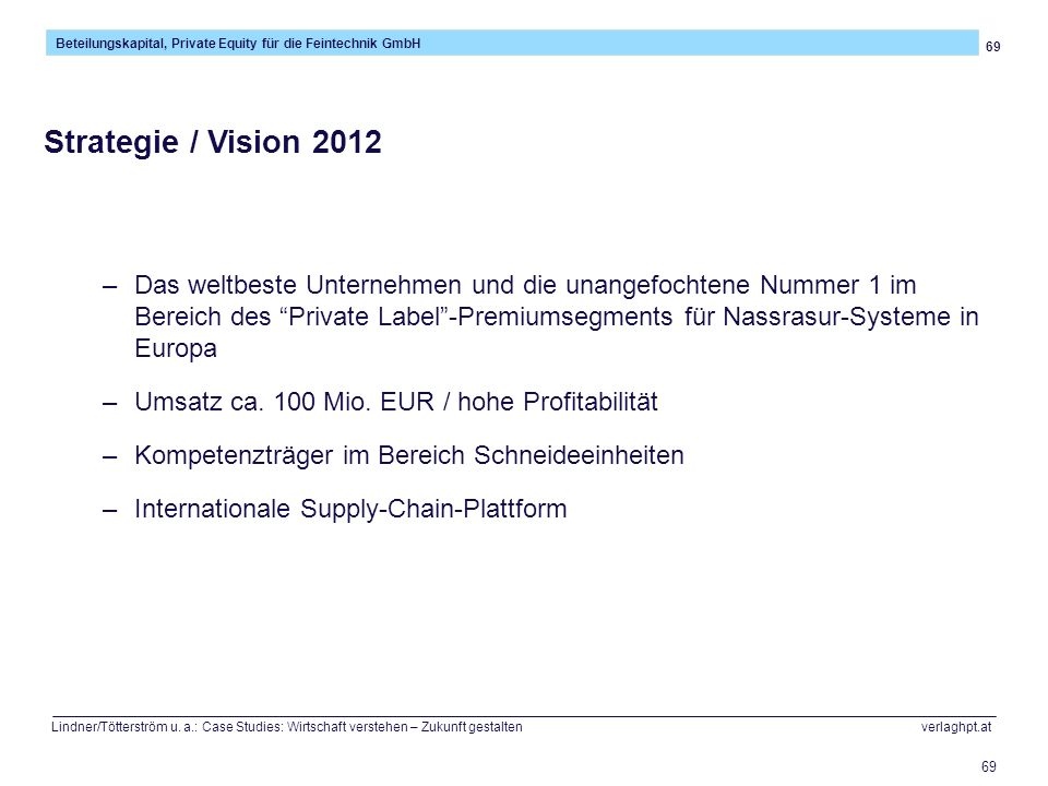 Strategie / Vision 2012