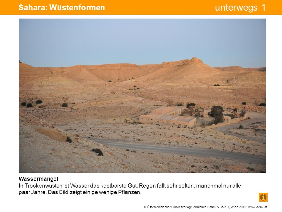 Sahara: Wüstenformen Wassermangel