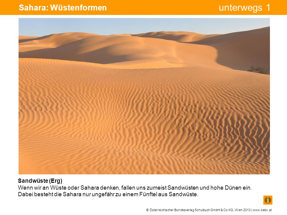 Sahara: Wüstenformen Bohrturm Pumpe Pumpe Sandwüste (Erg)