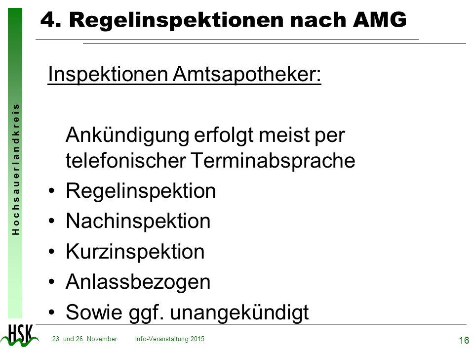 4. Regelinspektionen nach AMG