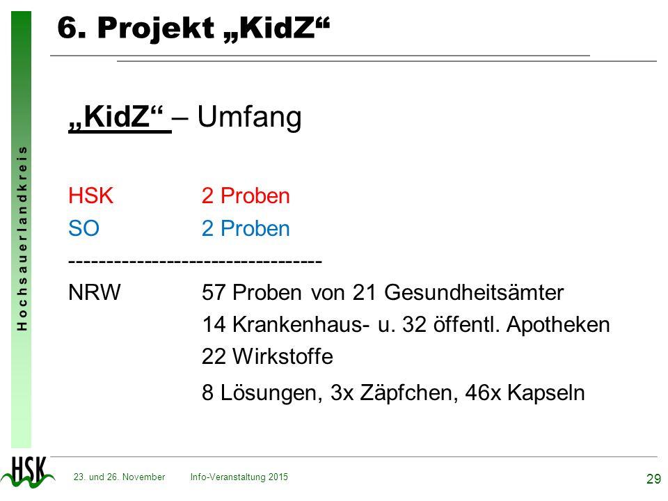 "6. Projekt ""KidZ ""KidZ – Umfang HSK 2 Proben SO 2 Proben"