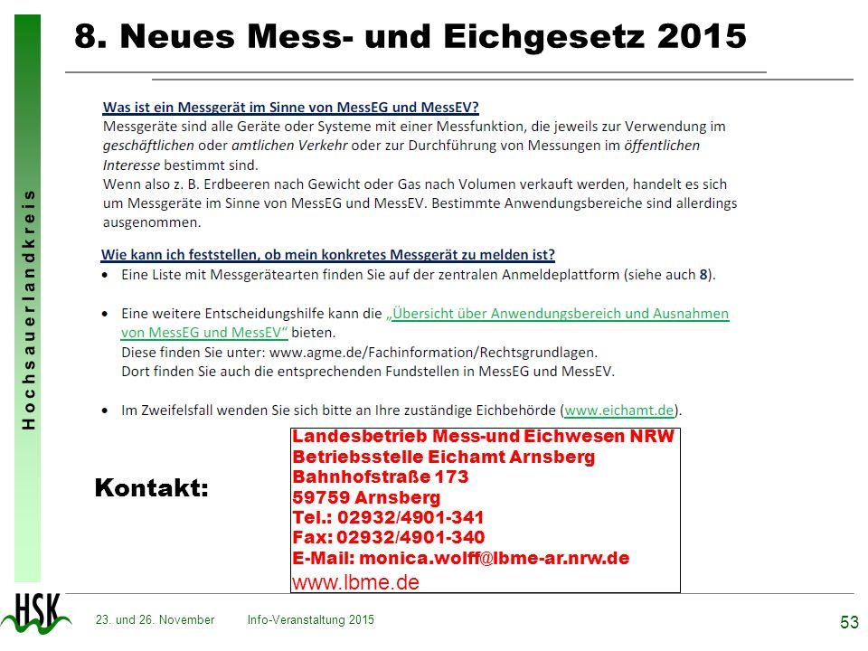 8. Neues Mess- und Eichgesetz 2015