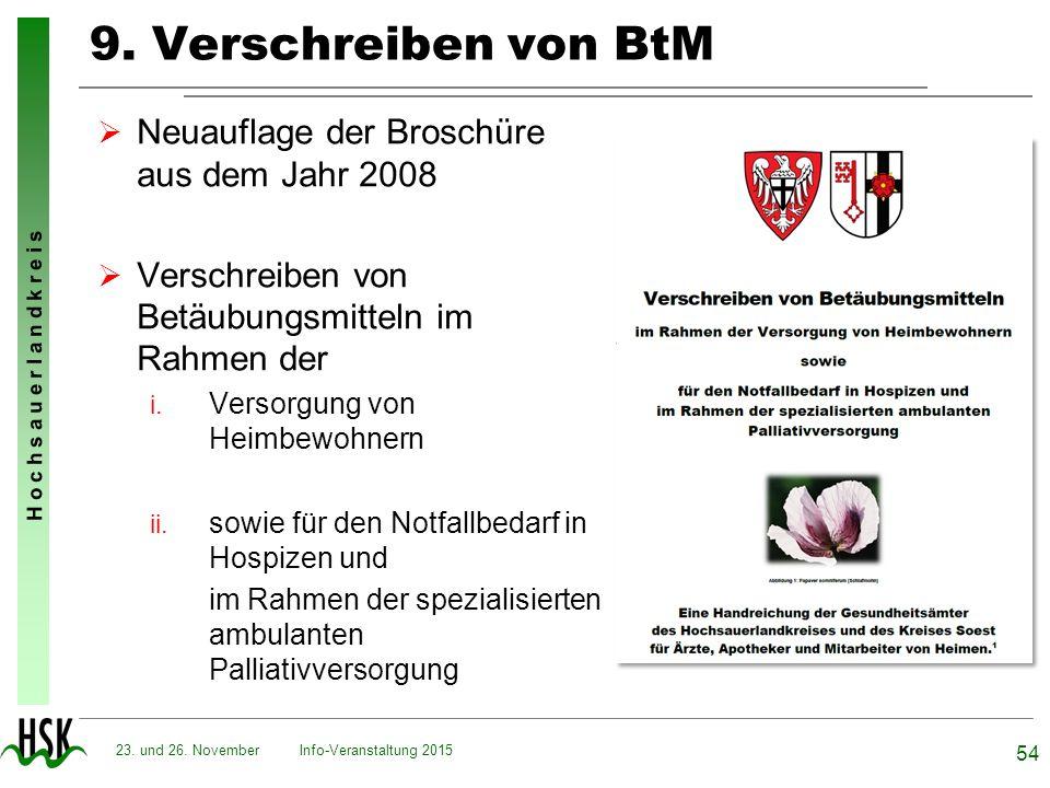 9. Verschreiben von BtM Neuauflage der Broschüre aus dem Jahr 2008