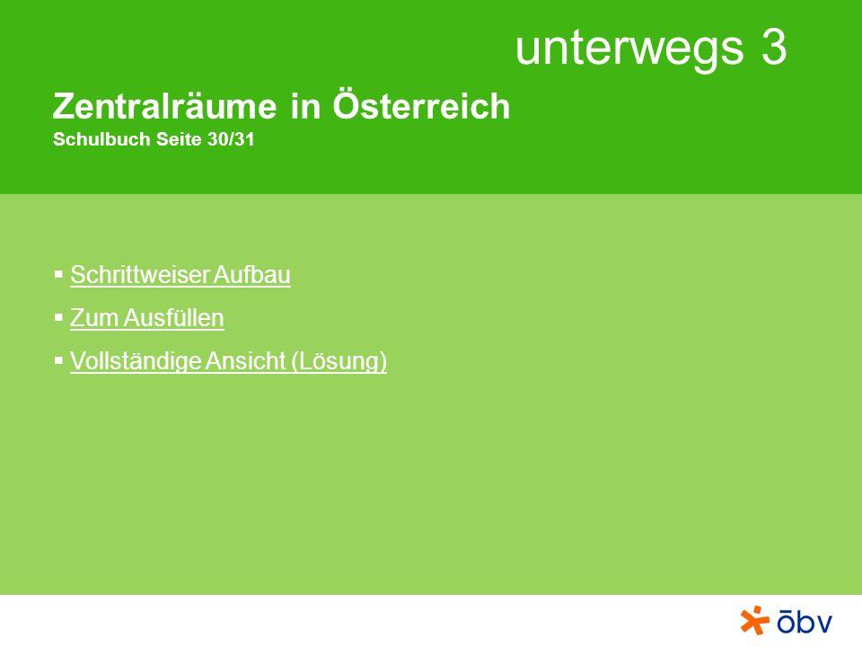Zentralräume in Österreich Schulbuch Seite 30/31