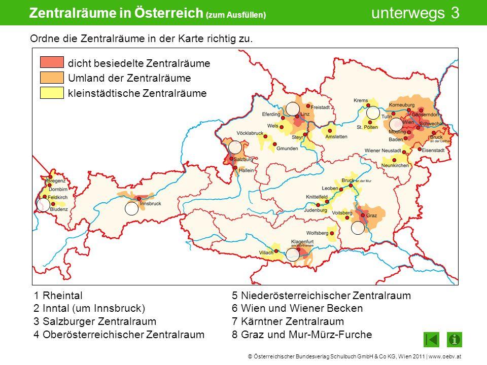 Zentralräume in Österreich (zum Ausfüllen)