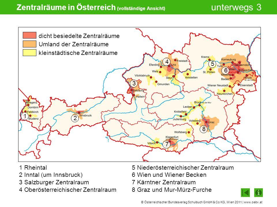 Zentralräume in Österreich (vollständige Ansicht)