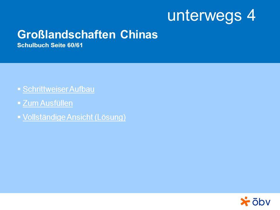 Großlandschaften Chinas Schulbuch Seite 60/61