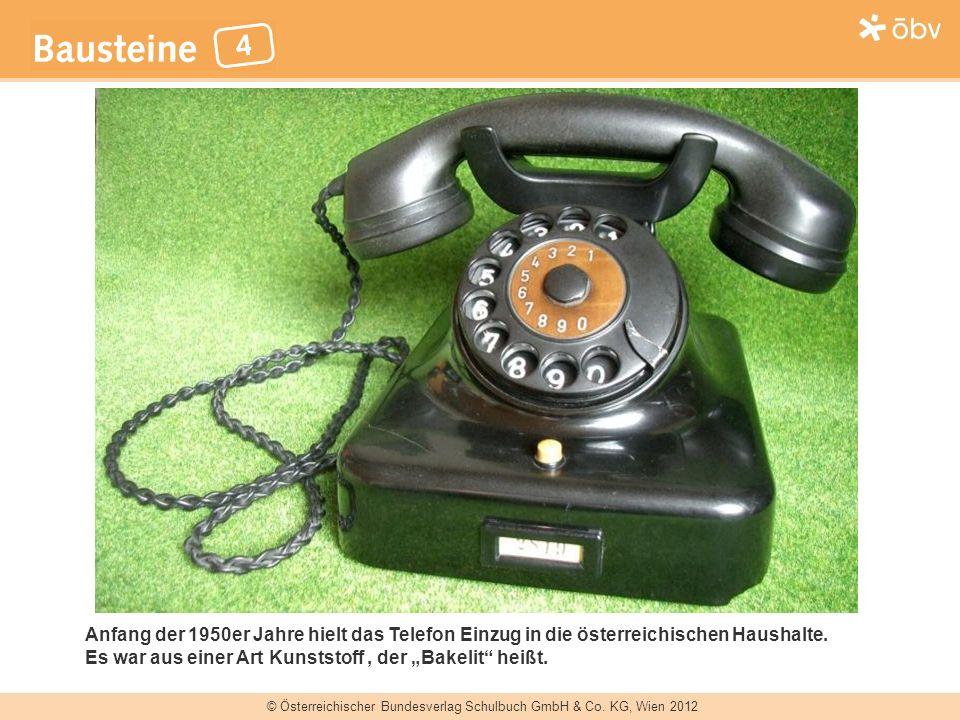 Anfang der 1950er Jahre hielt das Telefon Einzug in die österreichischen Haushalte.