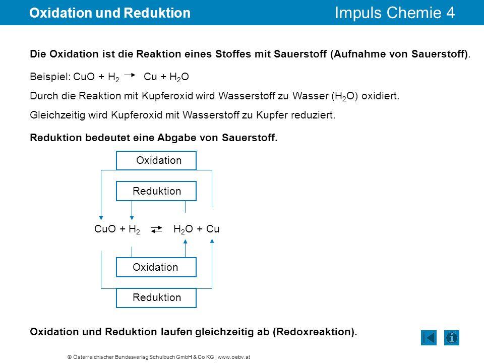 Oxidation und Reduktion