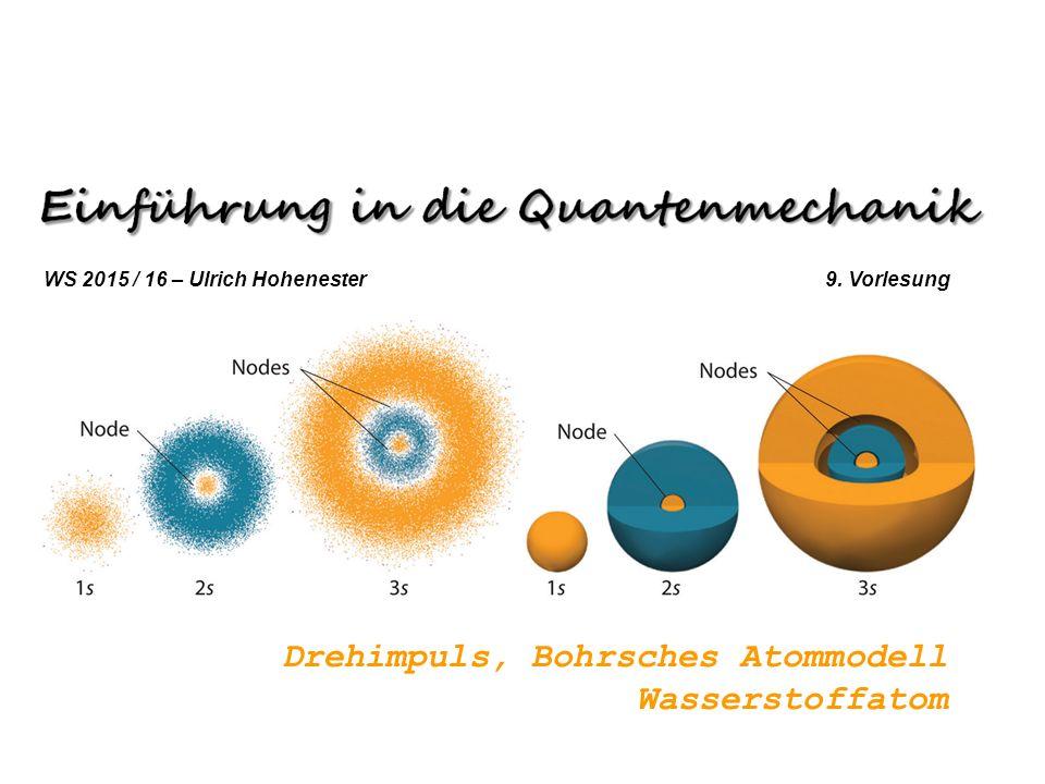 Drehimpuls, Bohrsches Atommodell Wasserstoffatom