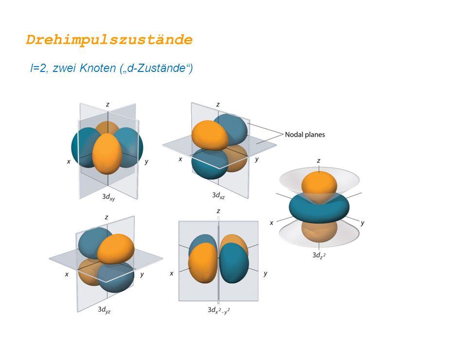 """Drehimpulszustände l=2, zwei Knoten (""""d-Zustände )"""