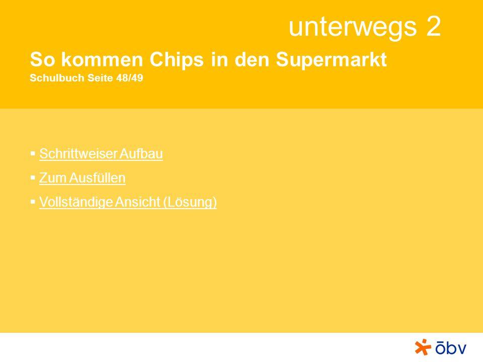So kommen Chips in den Supermarkt Schulbuch Seite 48/49