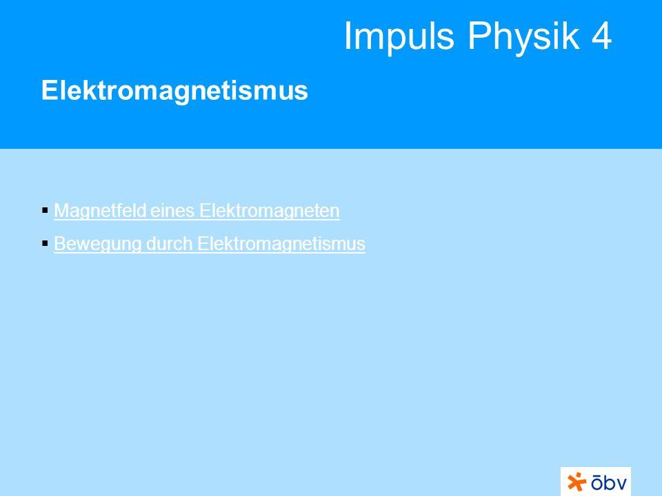 Elektromagnetismus Magnetfeld eines Elektromagneten