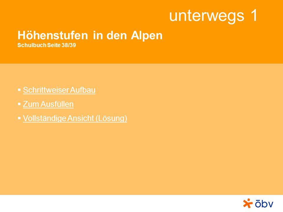 Höhenstufen in den Alpen Schulbuch Seite 38/39