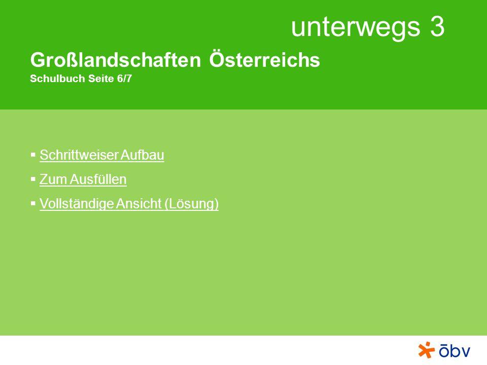 Großlandschaften Österreichs Schulbuch Seite 6/7
