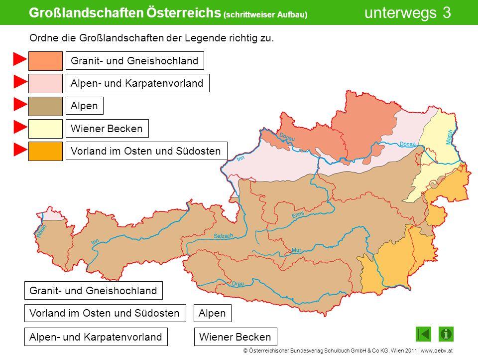Großlandschaften Österreichs (schrittweiser Aufbau)
