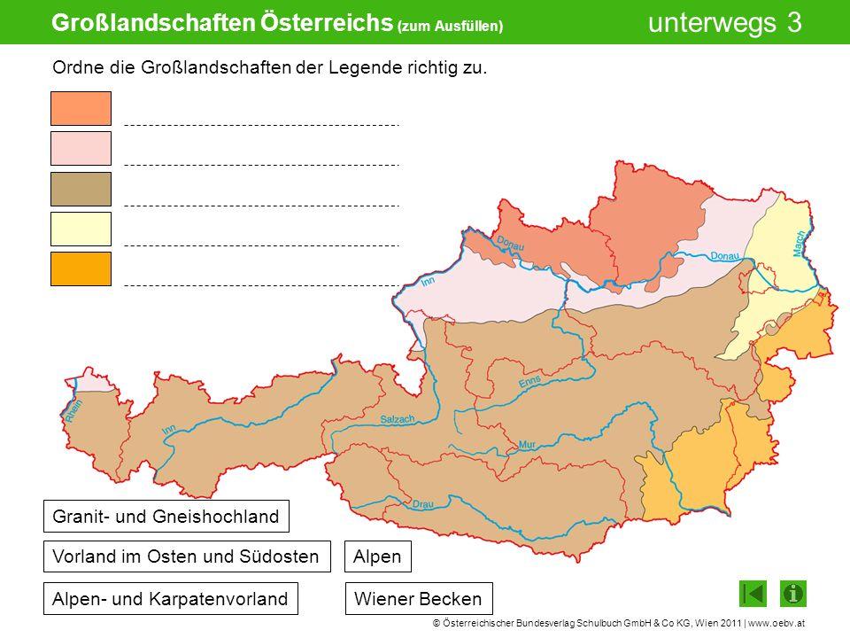 Großlandschaften Österreichs (zum Ausfüllen)