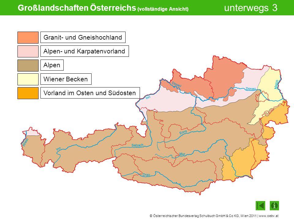 Großlandschaften Österreichs (vollständige Ansicht)
