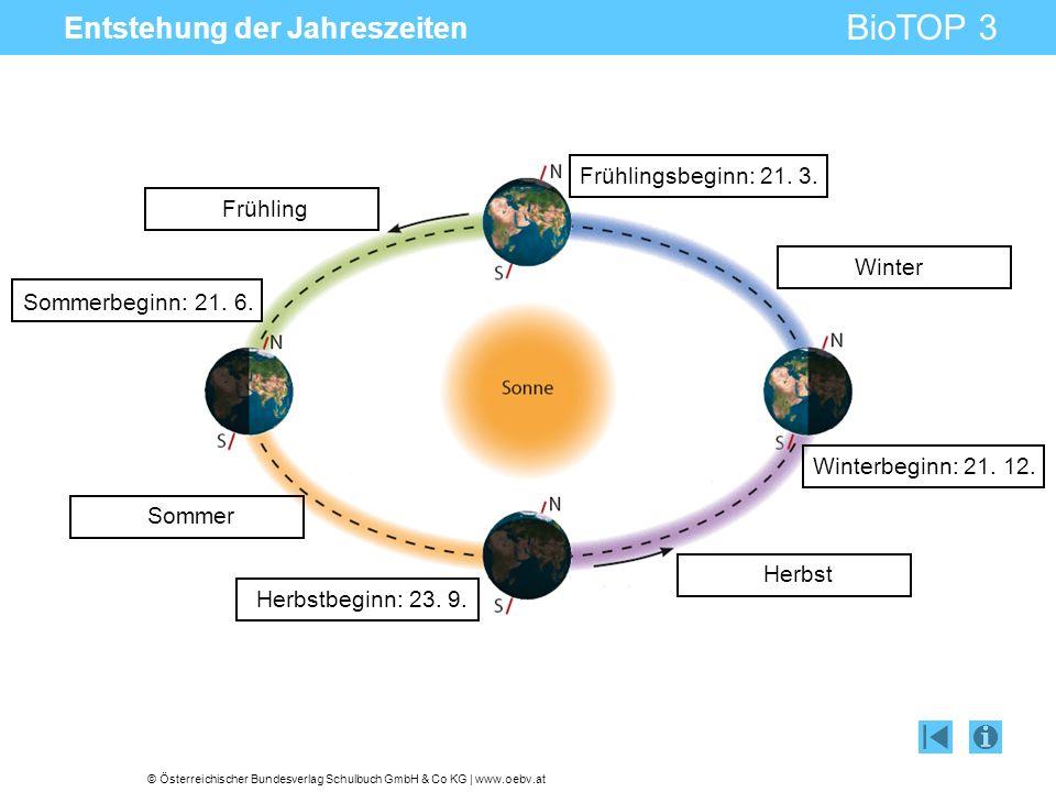 Entstehung der Jahreszeiten