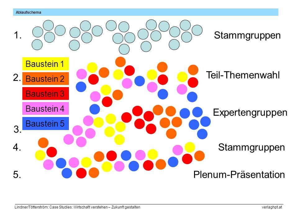 1. Stammgruppen Teil-Themenwahl 2. Expertengruppen 3. 4. Stammgruppen