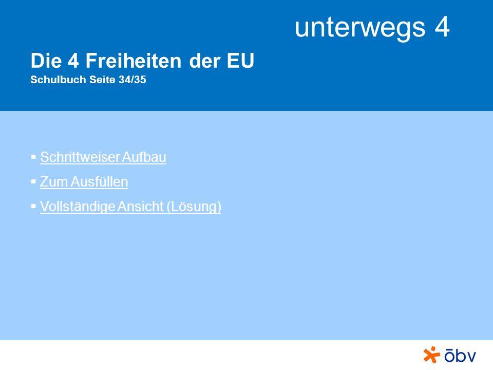 Die 4 Freiheiten der EU Schulbuch Seite 34/35