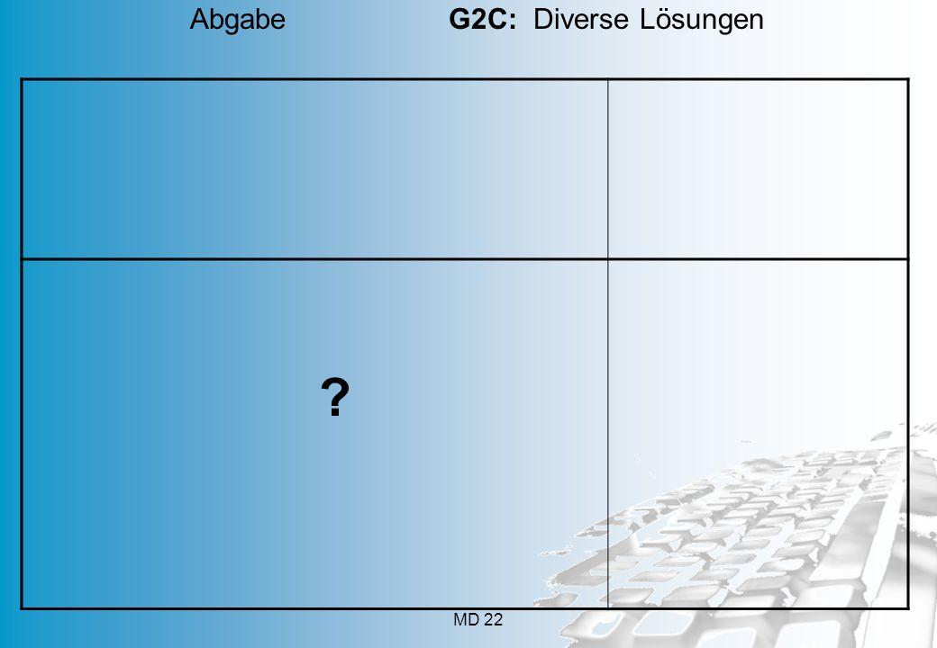 Abgabe G2C: Diverse Lösungen