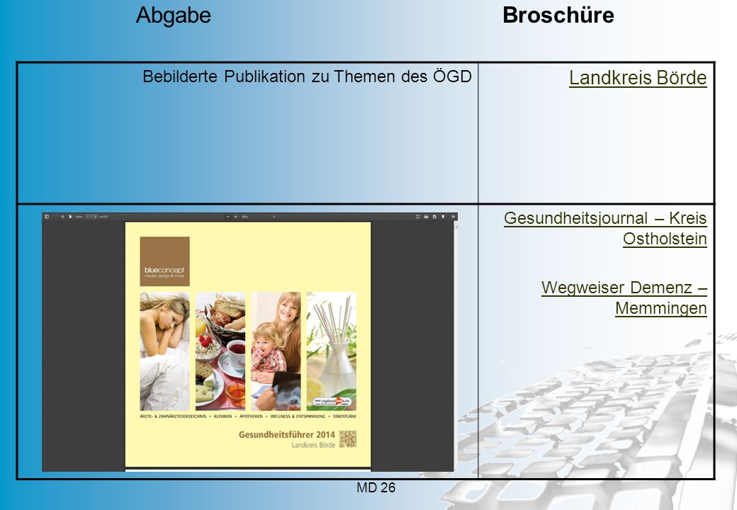 Abgabe Broschüre Landkreis Börde