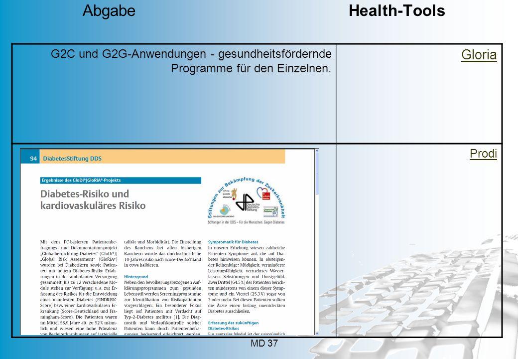 Abgabe Health-Tools Gloria