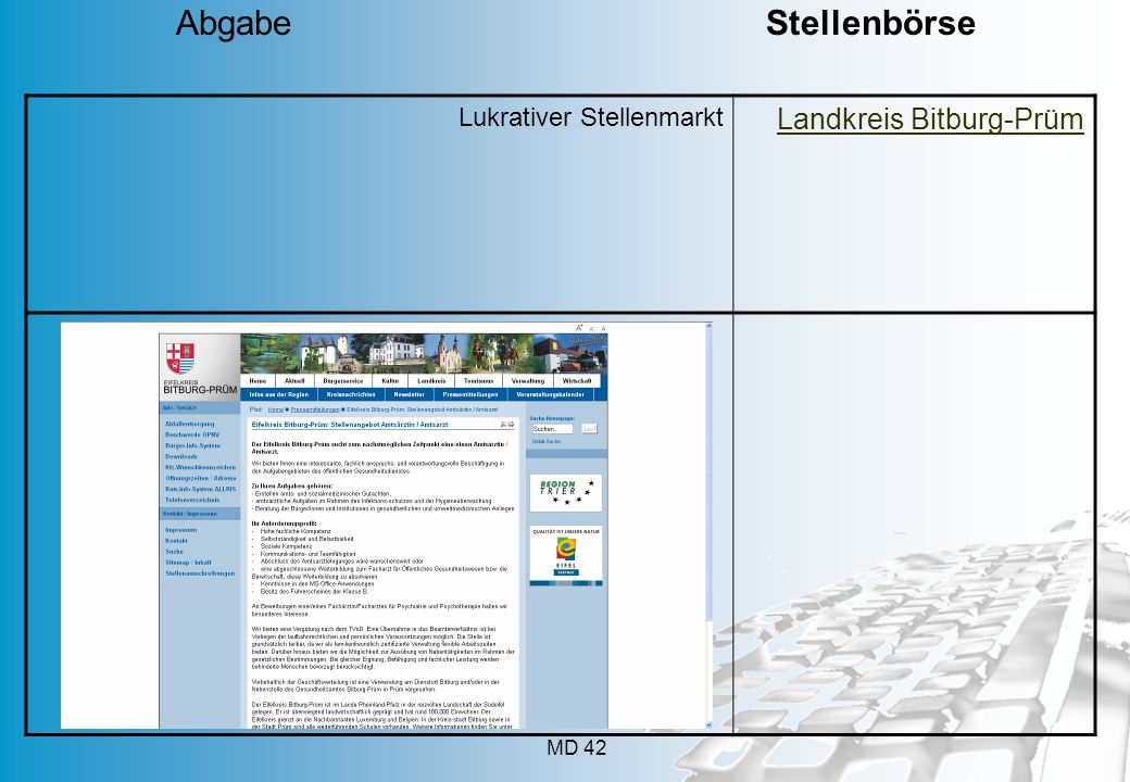 Abgabe Stellenbörse Lukrativer Stellenmarkt.