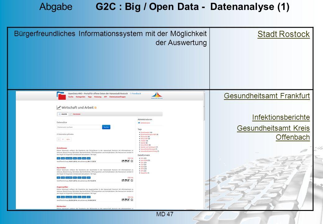 Abgabe G2C : Big / Open Data - Datenanalyse (1)