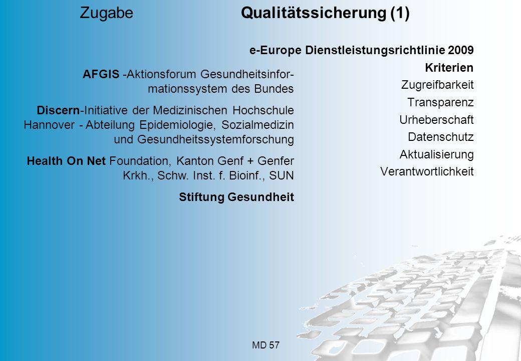 Zugabe Qualitätssicherung (1)