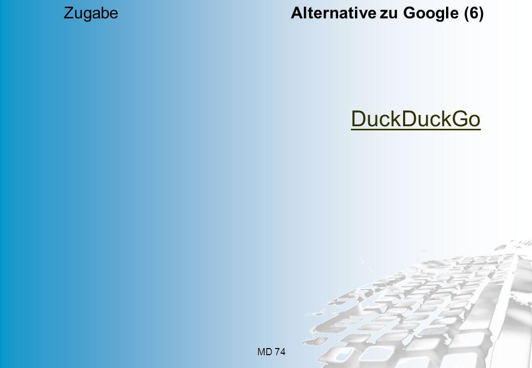 Zugabe Alternative zu Google (6)