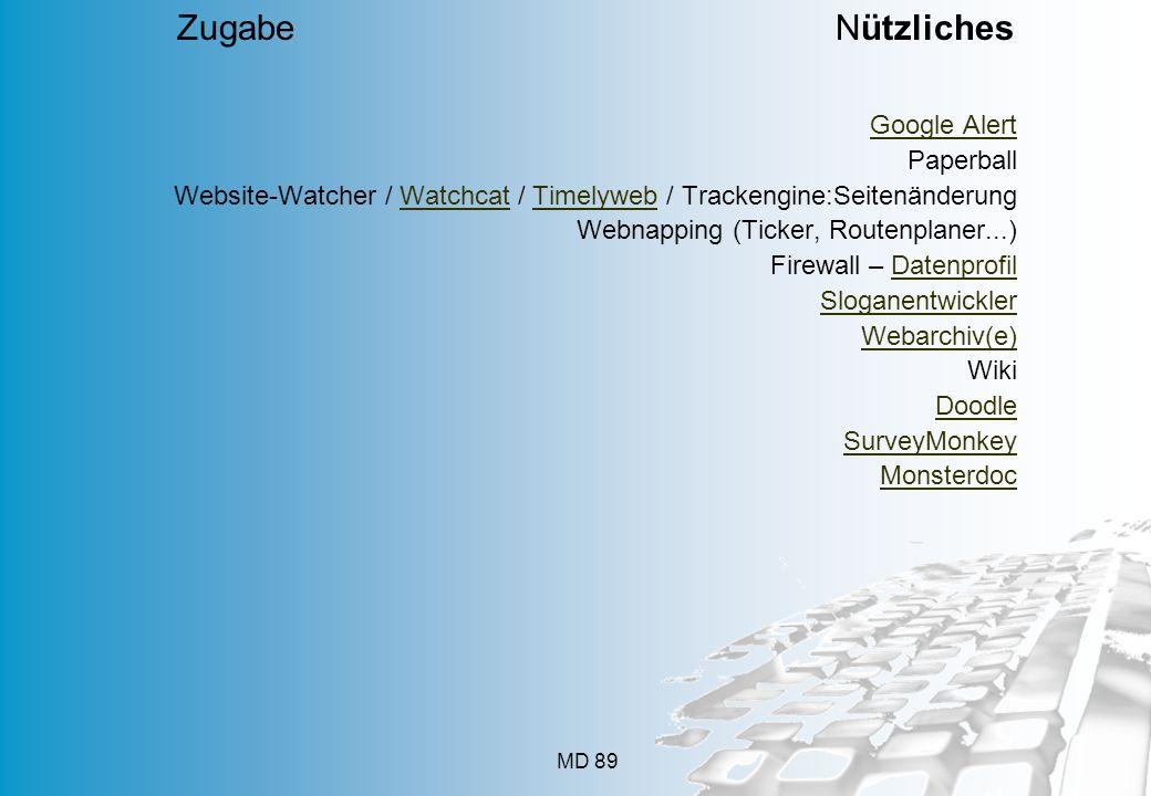 Zugabe Nützliches Popuri.us Ranknr in Suchmaschinen Google Alert