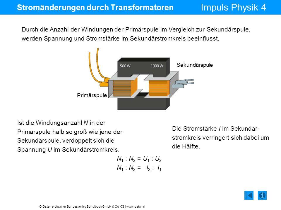 Stromänderungen durch Transformatoren