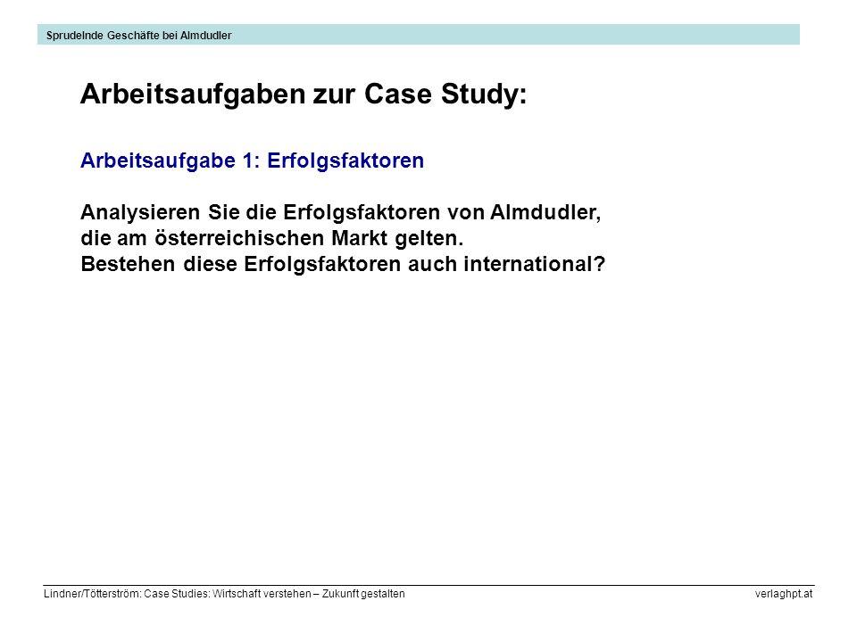 Arbeitsaufgaben zur Case Study: