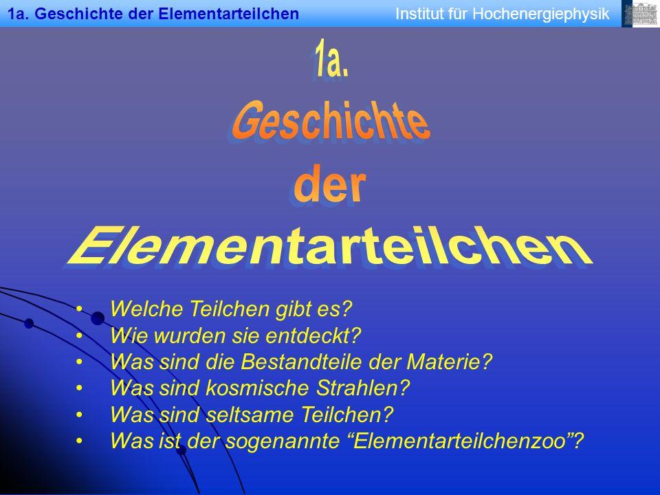 1a. Geschichte der Elementarteilchen