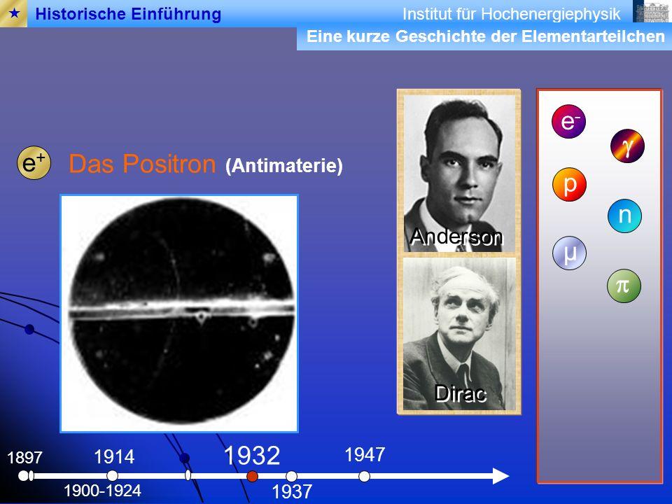 Das Positron (Antimaterie) p n µ p
