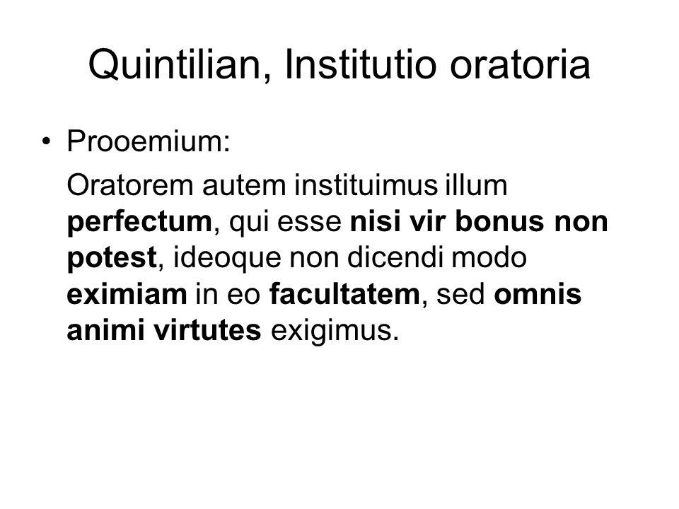 Quintilian, Institutio oratoria