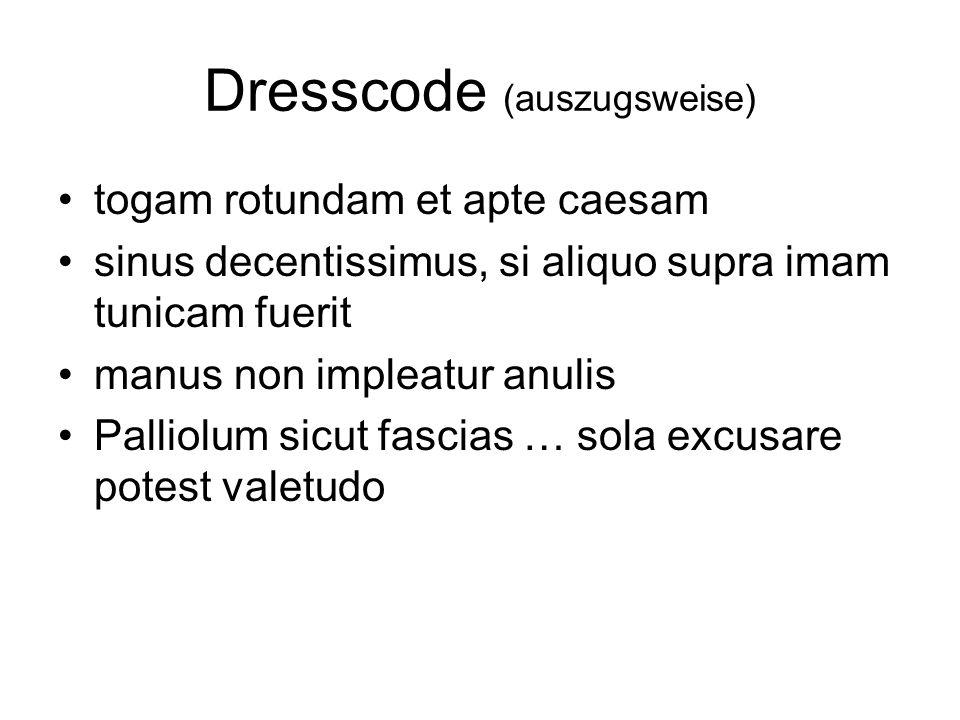 Dresscode (auszugsweise)