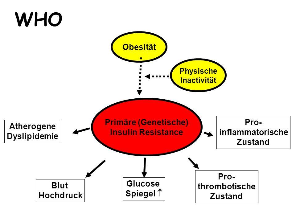WHO Obesität Primäre (Genetische) Insulin Resistance Pro- Atherogene