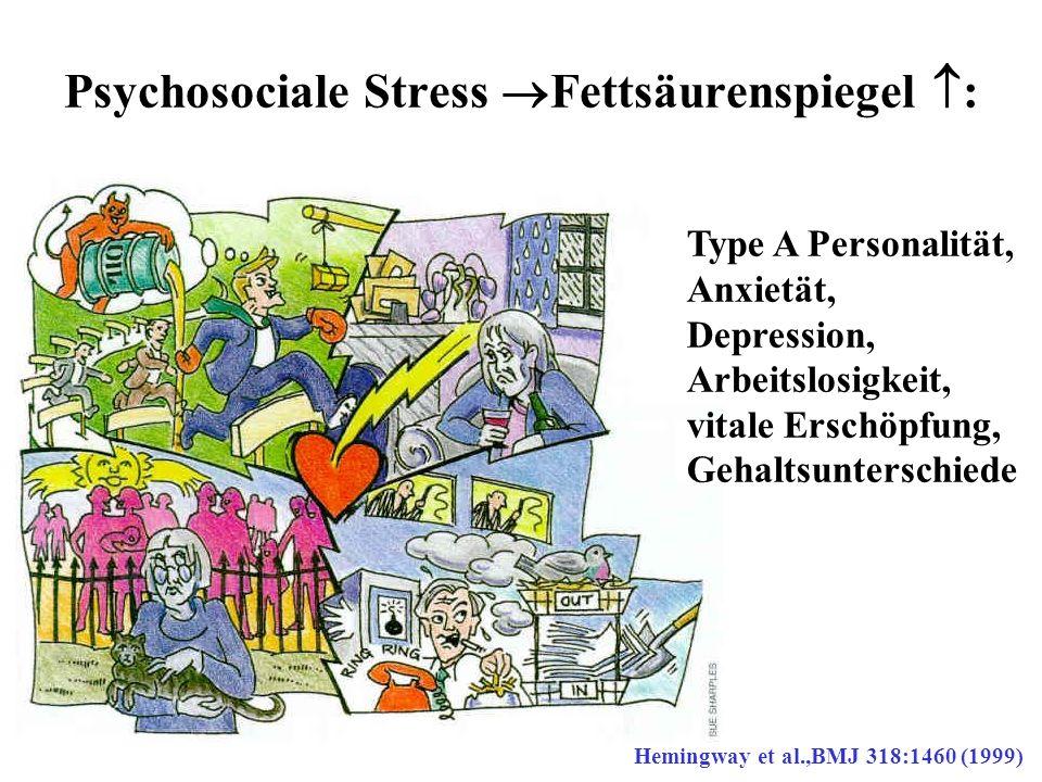 Psychosociale Stress Fettsäurenspiegel :