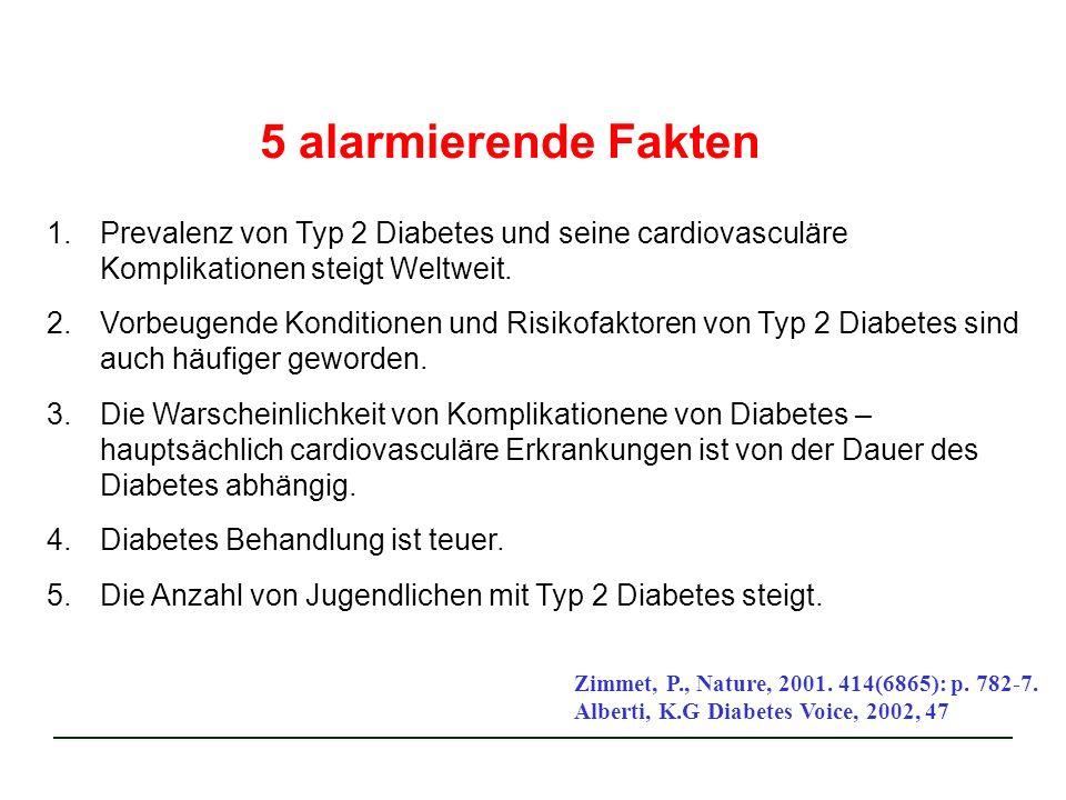 5 alarmierende Fakten Prevalenz von Typ 2 Diabetes und seine cardiovasculäre Komplikationen steigt Weltweit.