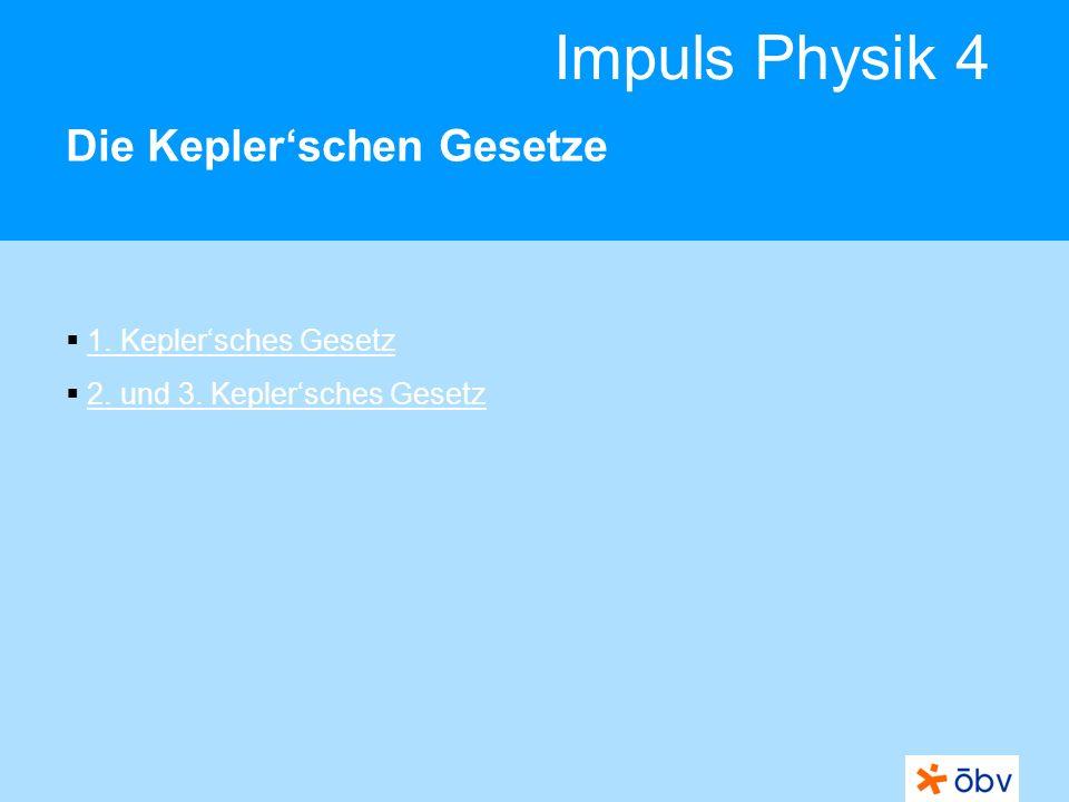 Die Kepler'schen Gesetze