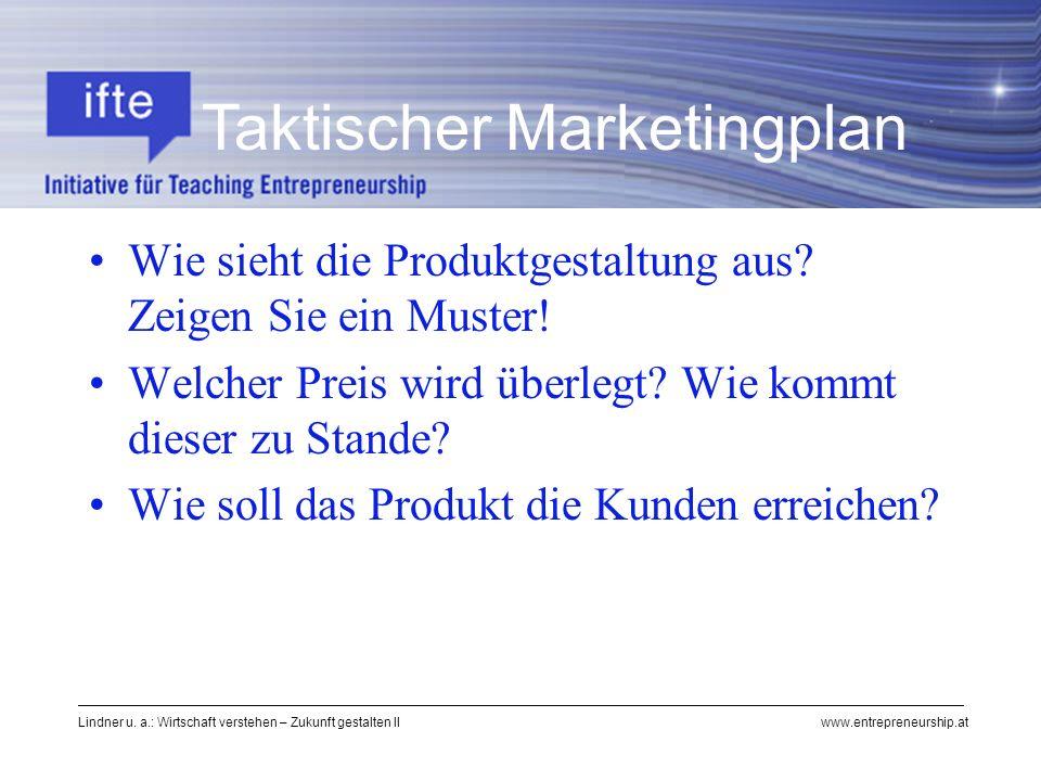 Taktischer Marketingplan