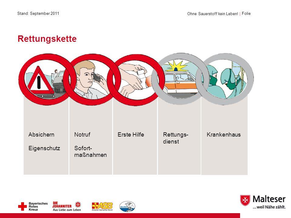 Rettungskette Absichern Eigenschutz Notruf Sofort- maßnahmen