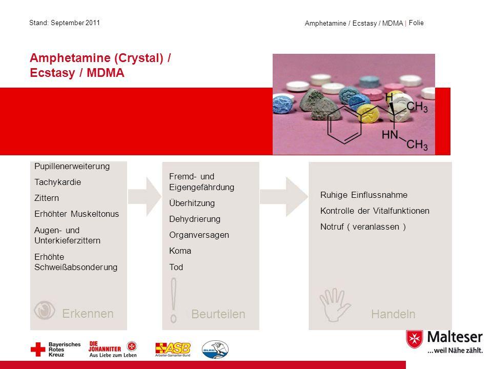 Amphetamine (Crystal) / Ecstasy / MDMA