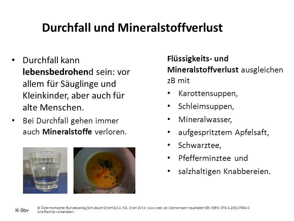 Durchfall und Mineralstoffverlust