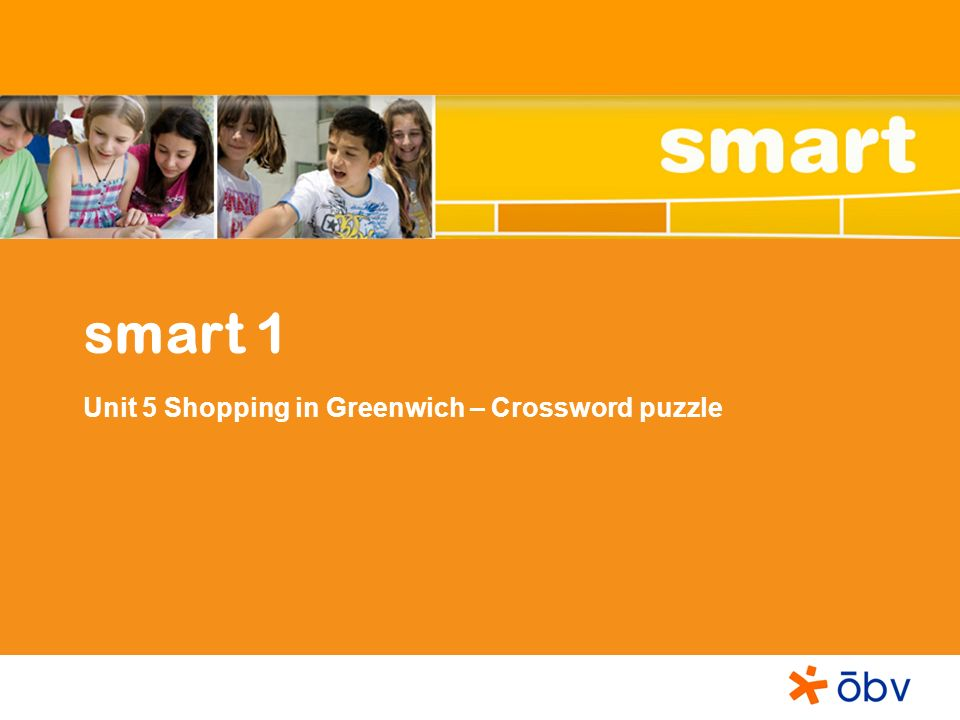 smart 1 Unit 5 Shopping in Greenwich – Crossword puzzle