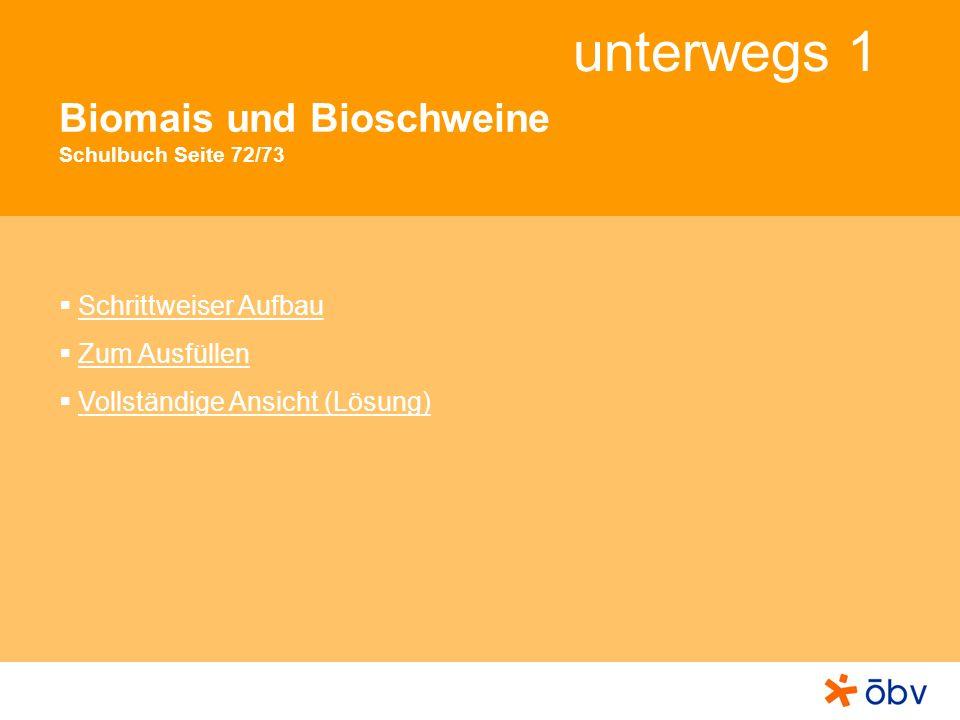Biomais und Bioschweine Schulbuch Seite 72/73